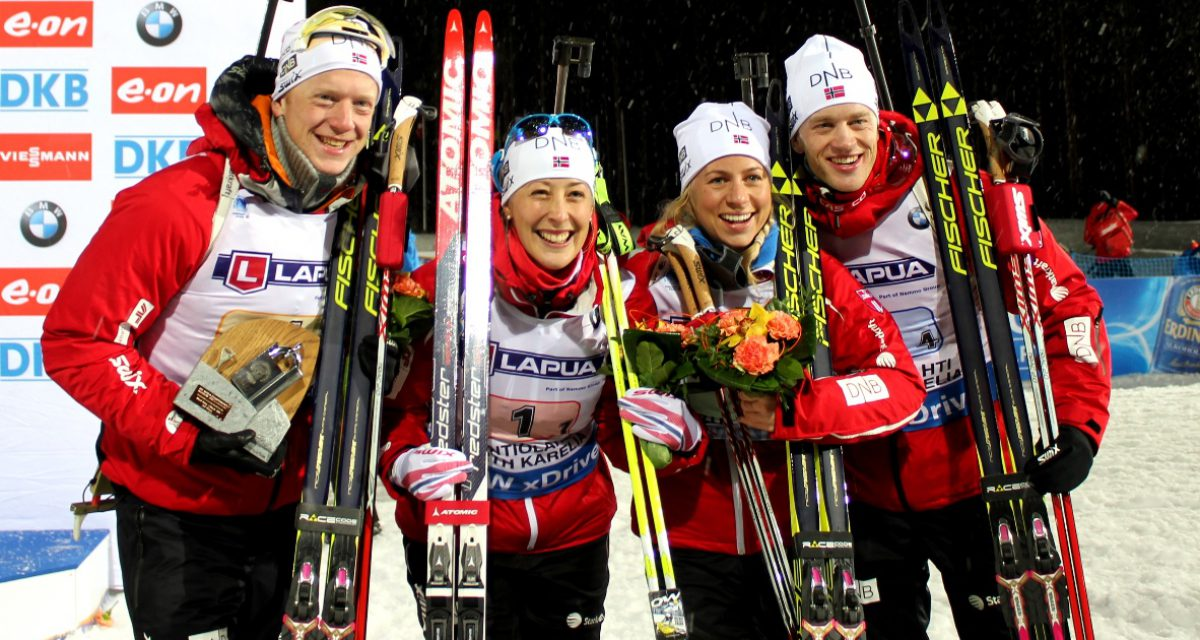 Bronse på mixed stafetten