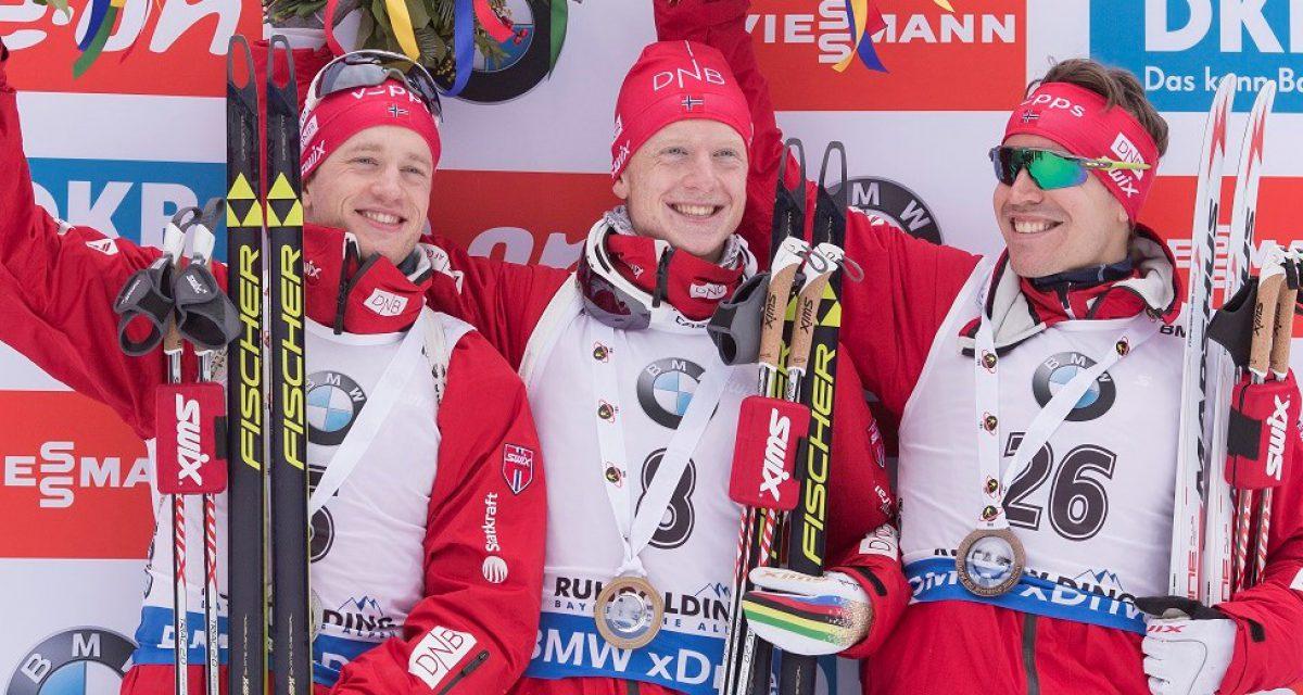 Trippel norsk på sprinten