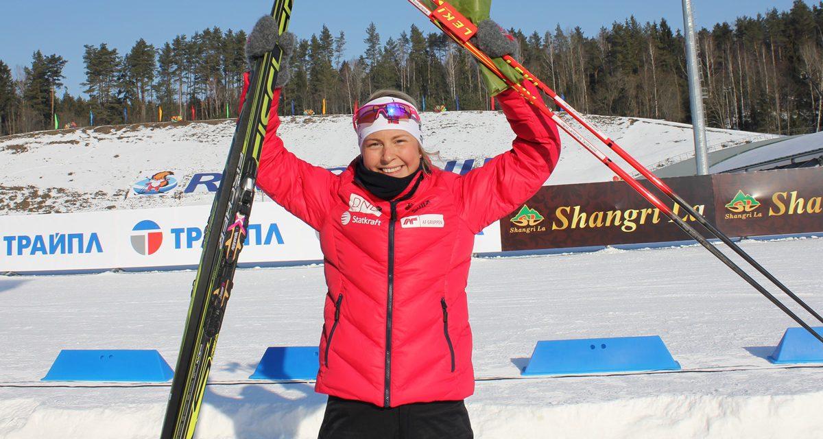 Sølv til Ingrid Landmark Tandrevold i Junior-VM