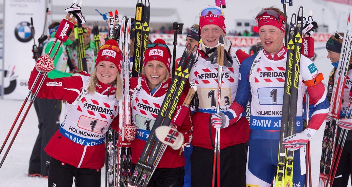 Bronse til det norske mixed stafettlaget i VM