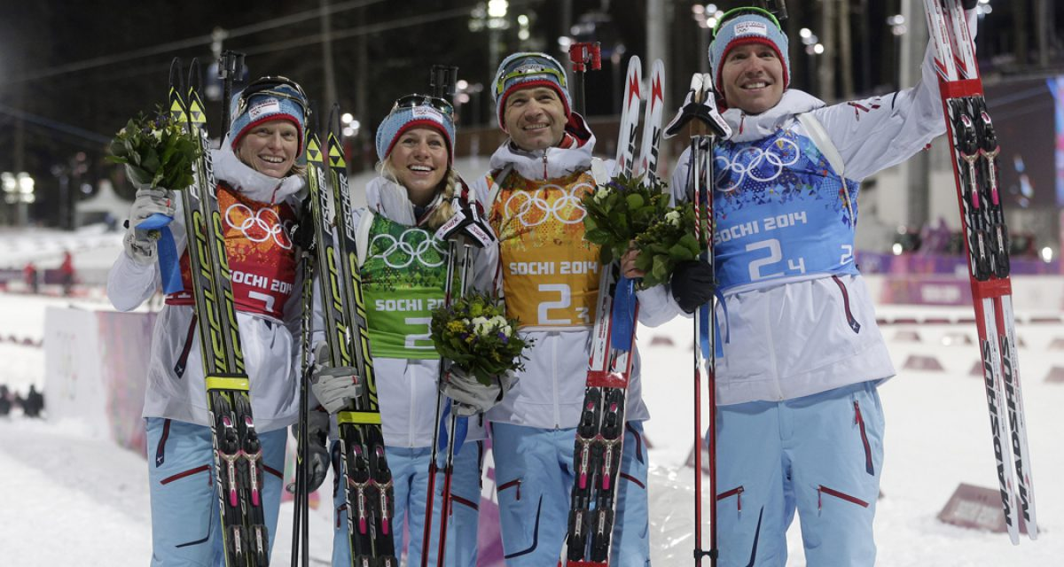 Norsk gull i mixed stafetten