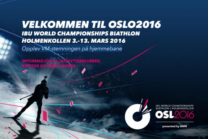 Klubbtilbud Oslo2016 – Opplev VM på hjemmebane!