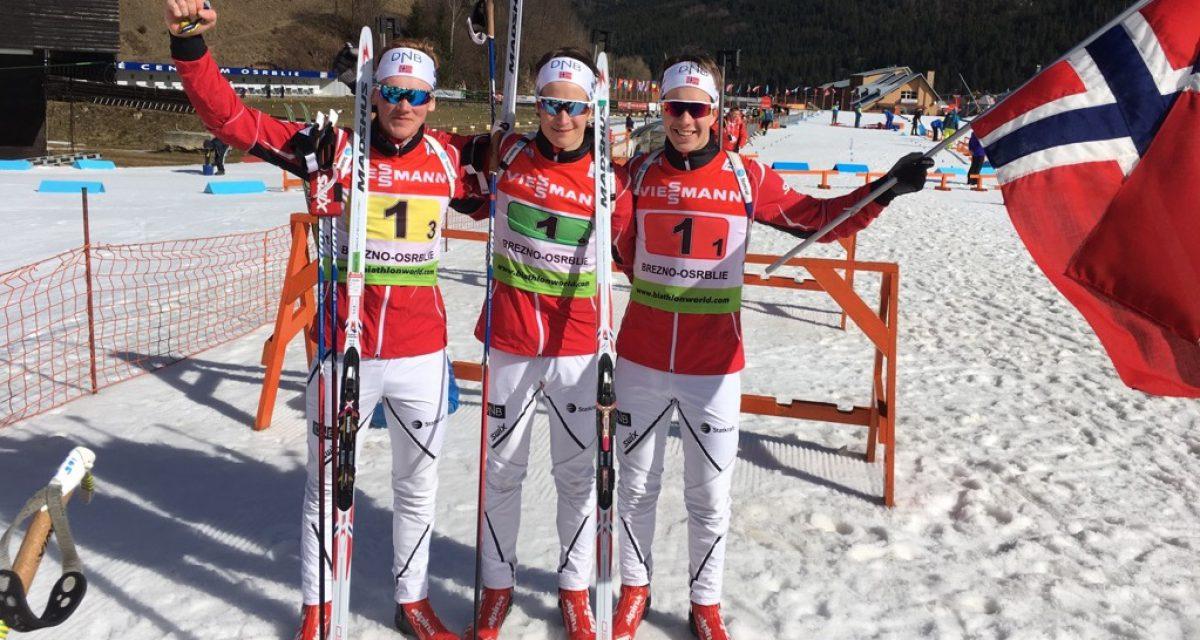 Stafettgull og -sølv i junior-VM