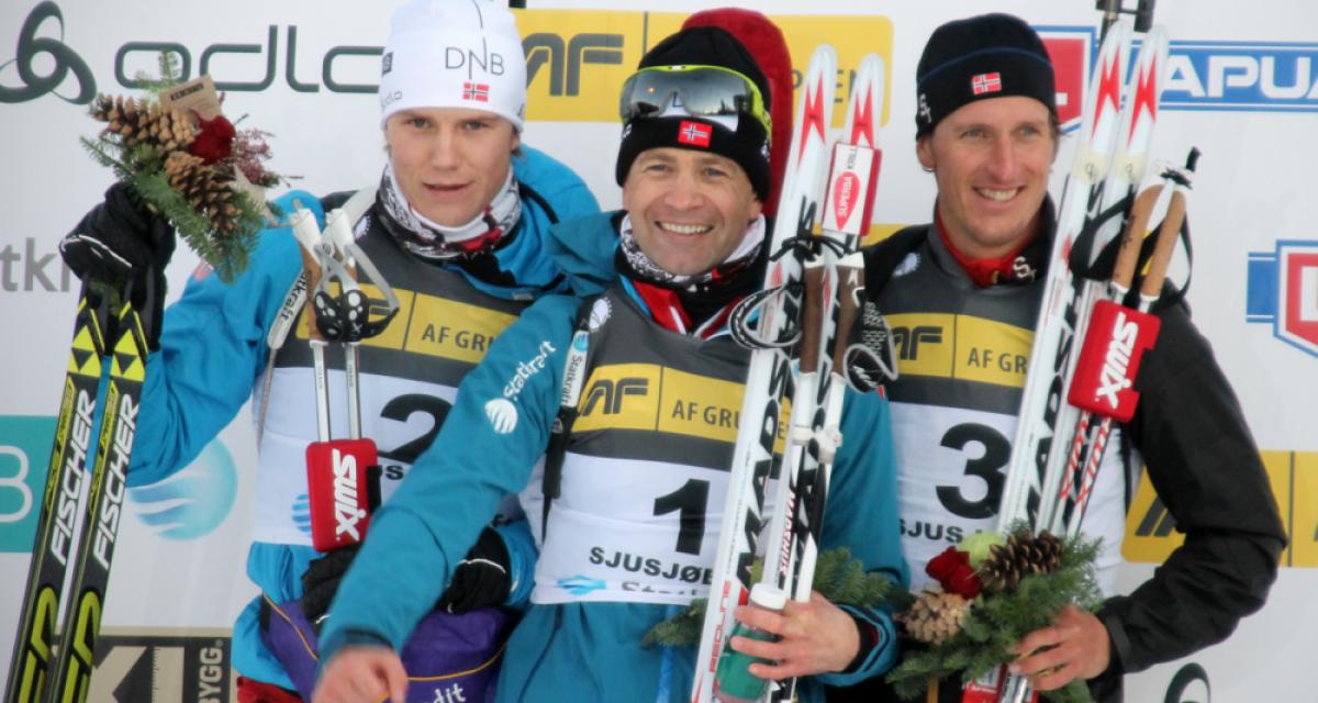 Ole Einar Bjørndalen og Andrea Henkel på topp