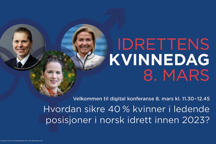 NIF arrangerer Idrettens Kvinnedag 8. Mars